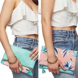Rachel Pally Paradise Floral Reversible Clutch